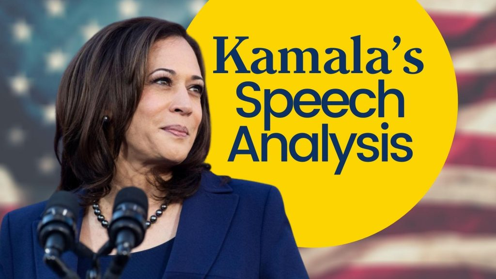 kamala speech analyses